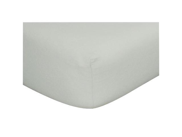 Trend Lab Flannel Crib Sheet-Solid Gray