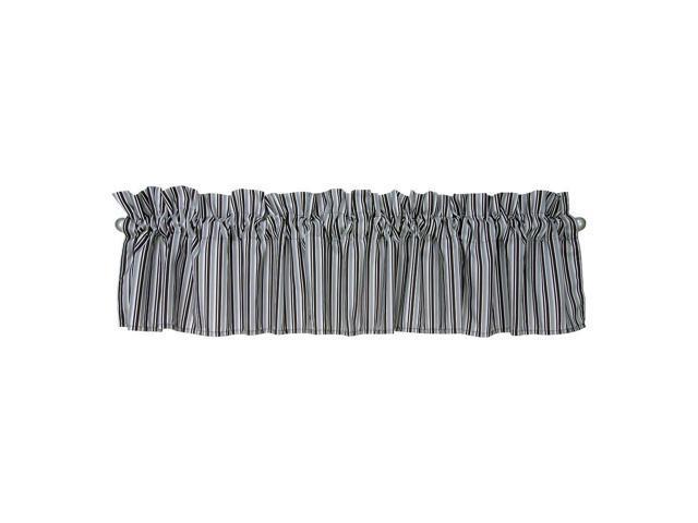 Trend Lab Medallions Window Valance - Black/White/Gray
