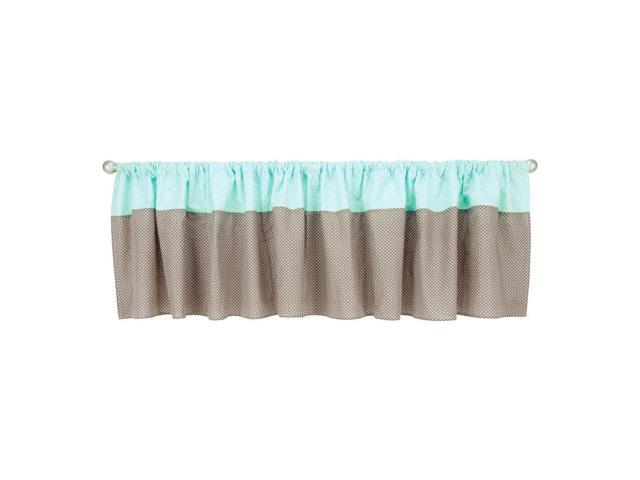 Trend Lab Cocoa Mint Window Valance - 82