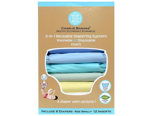Charlie Banana 2-in-1 Reusable Diaper System Value Pack - Pastel Small