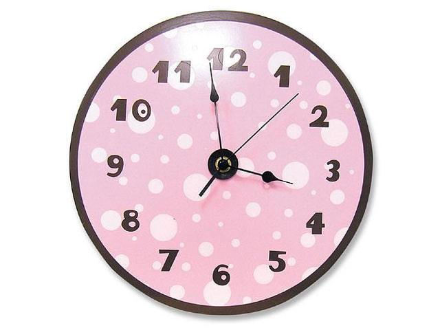 Trend Lab Dot Wall Clock - Pink and Brown