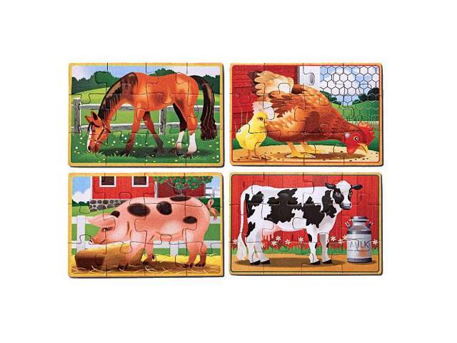 Melissa & Doug Farm Puzzles in a Box