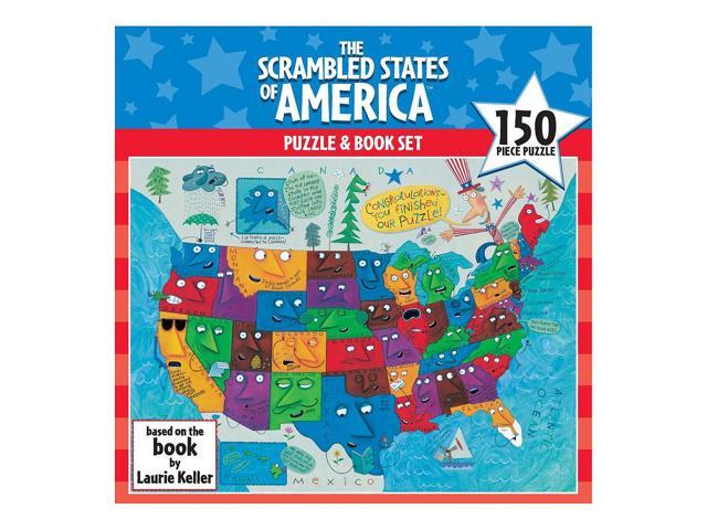 Scrambled States of America Puzzle: 150 Pcs
