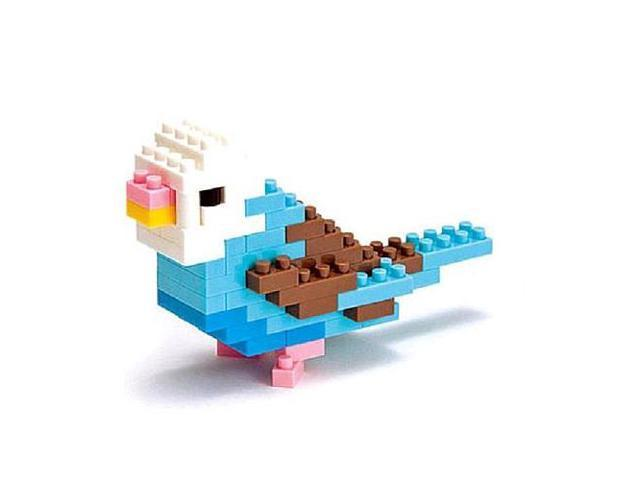 nanoblock Animals Level 1 - Blue Parakeet: 80 Pcs