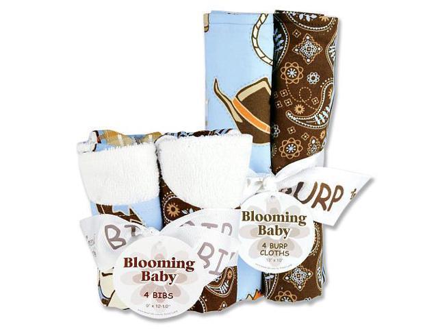Trend Lab Cowboy Baby 8-Piece Bib and Burp Cloth Set