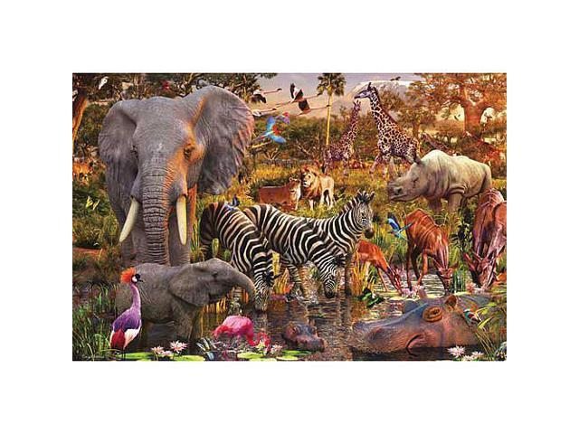 African Animals Jigsaw Puzzle - 3000-Piece