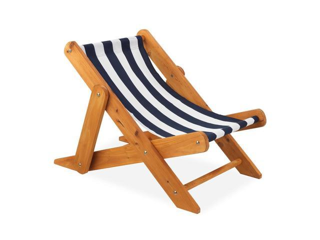 KidKraft Outdoor Sling Lounger with Navy Stripe Fabric