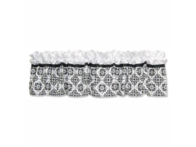 Trend Lab Versailles Black and White Window Valance - 82