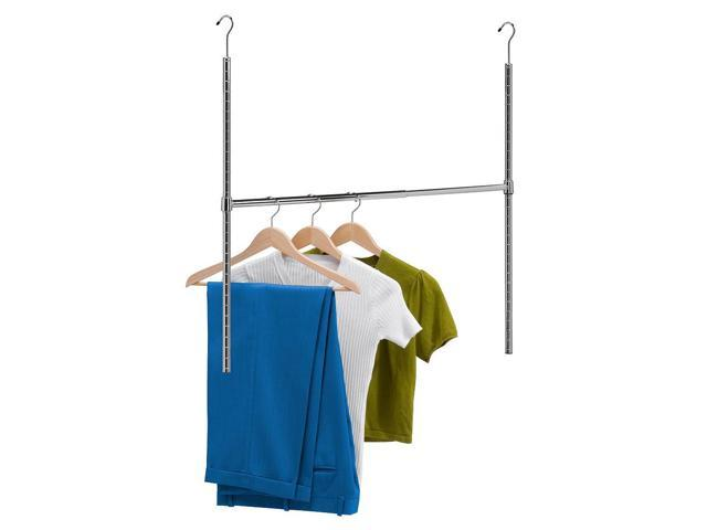 Honey-Can-Do Chrome Adjustable Hanging Closet Rod