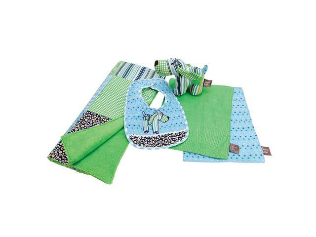 Trend Lab Dog Gone Cute 5-Piece Gift Set - Blue