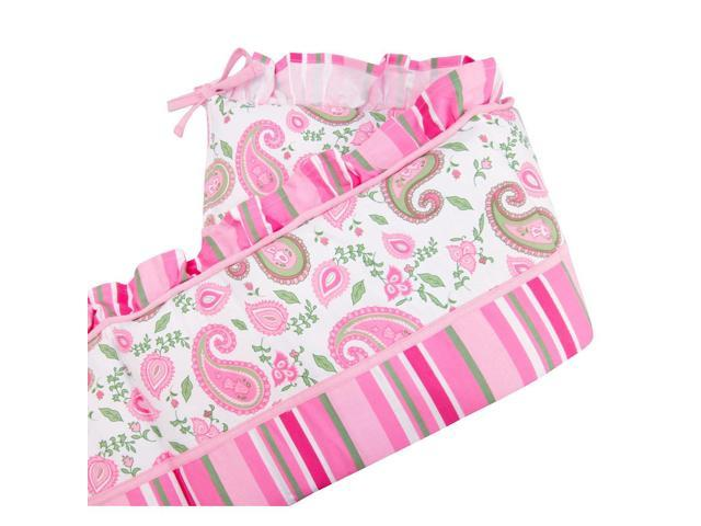 Trend Lab Paisley Park Crib Bumpers - Pink/Green