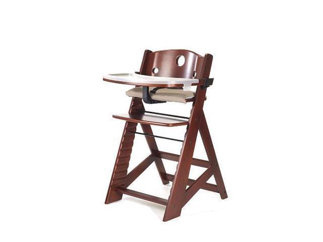 Keekaroo Height Right High Chair with Tray - Mahogany