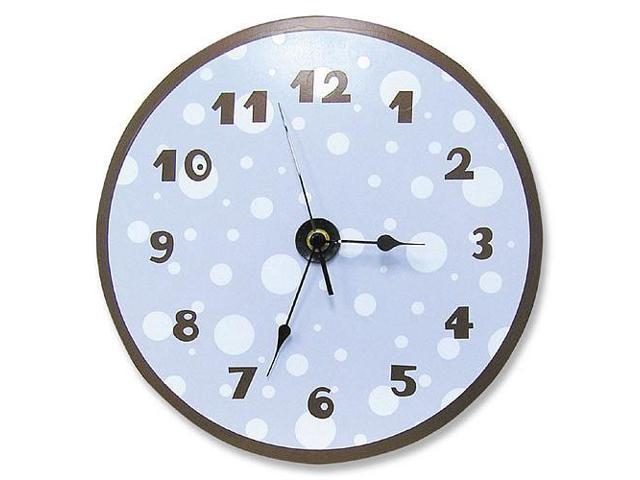 Trend Lab Dot Wall Clock - Blue and Brown