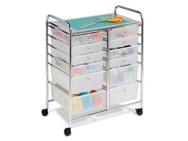 Honey Can Do 12-Drawer Studio Organizer Cart - Chrome