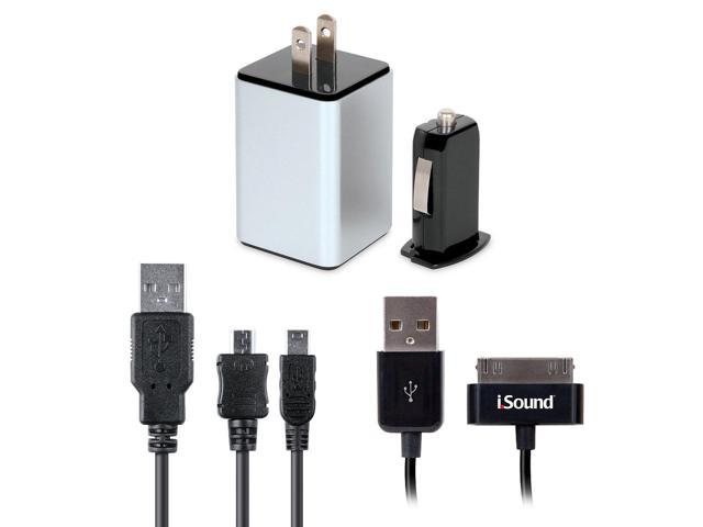 4-in-1 Combo Charger Pack for iPad/iPhone/iPod