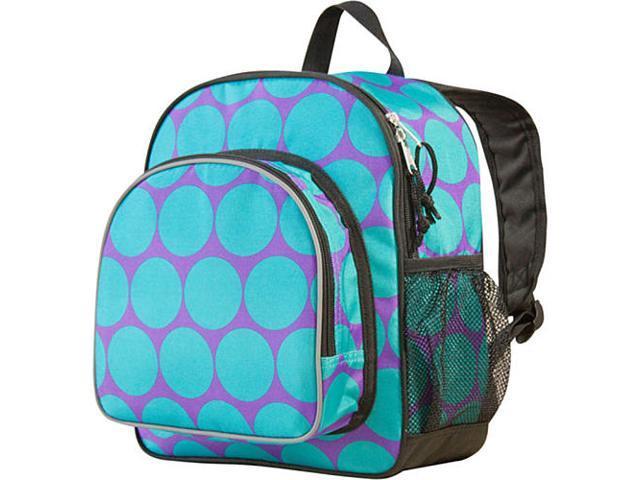 Wildkin Pack 'n Snack Backpack - Aqua Big Dots