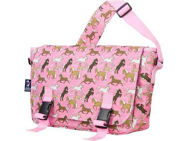 Wildkin Jumpstart Messenger Bag - Horses in Pink