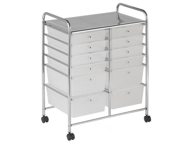 12 Drawer 84 Organizer White