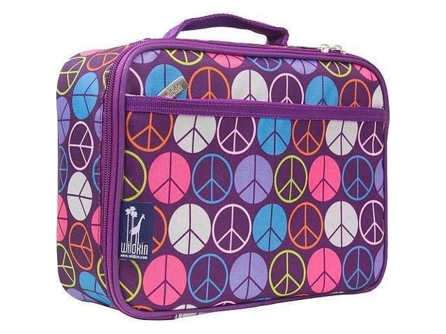 Wildkin Lunch Box - Purple Peace Signs