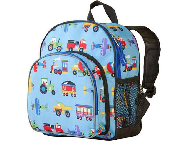 Wildkin Pack 'n Snack Backpack - Olive Kids Trains and Trucks