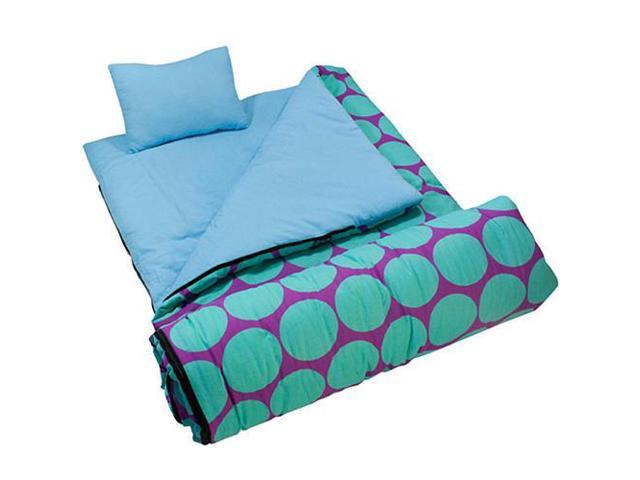 Wildkin Sleeping Bag - Aqua Big Dots