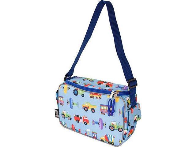 Wildkin Keep it Cooler Lunch Box - Olive Kids Trains, Planes and Trucks