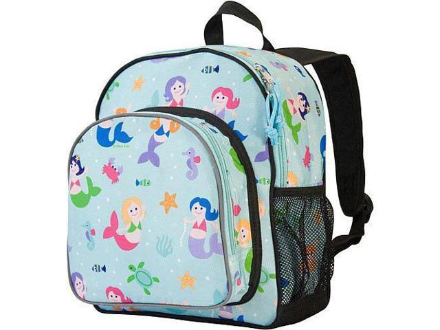 Wildkin Pack 'n Snack Backpack - Olive Kids Mermaids