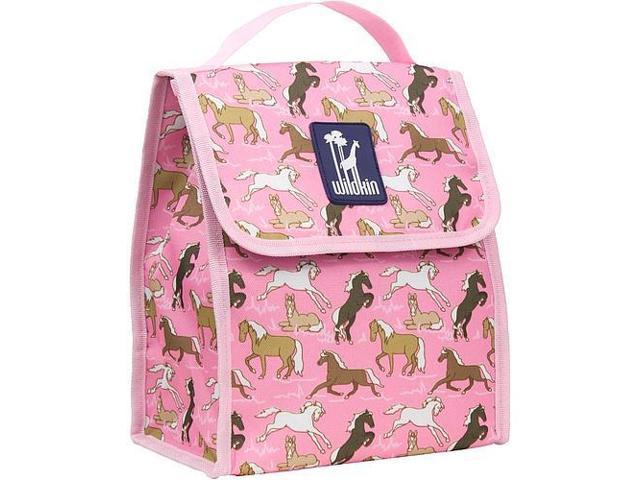 Wildkin Munch 'n Lunch Bag - Horses in Pink