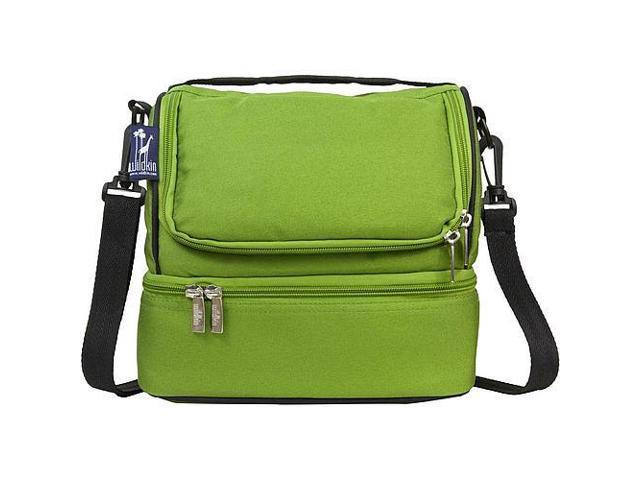 Wildkin Double Decker Lunch Bag - Parrot Green