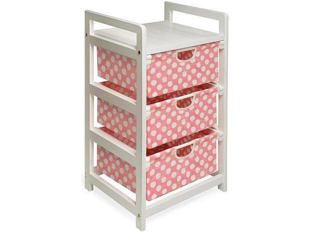 Badger Basket White Finish Three Drawer Hamper/Storage Unit - 126