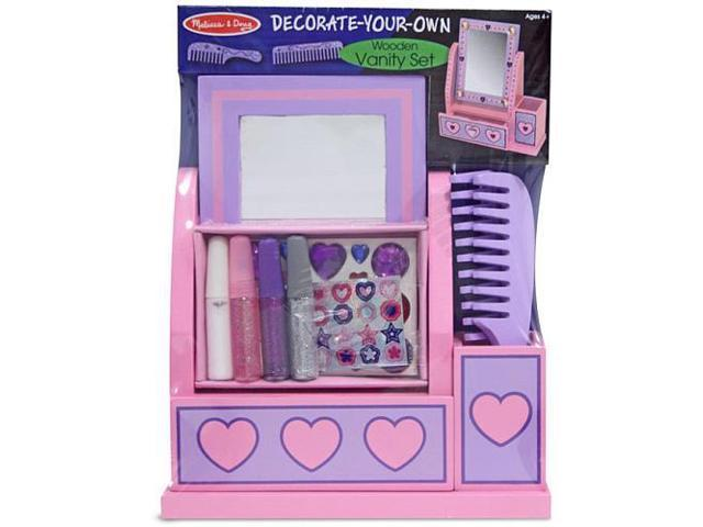 Melissa & Doug Decorate Your Own Wood Vanity Set