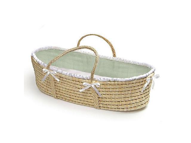 Badger Basket Natural Moses Basket - Sage Waffle