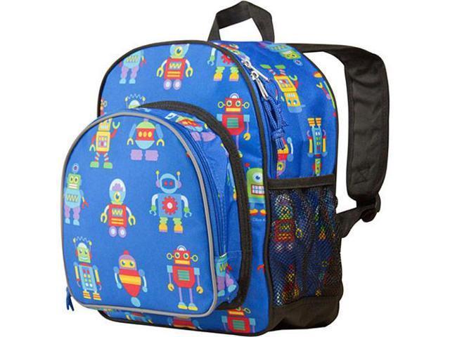 Wildkin Pack 'n Snack Backpack - Olive Kids Robots