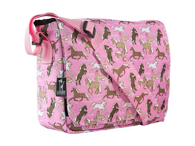Wildkin Kickstart Messenger Bag - Horses in Pink