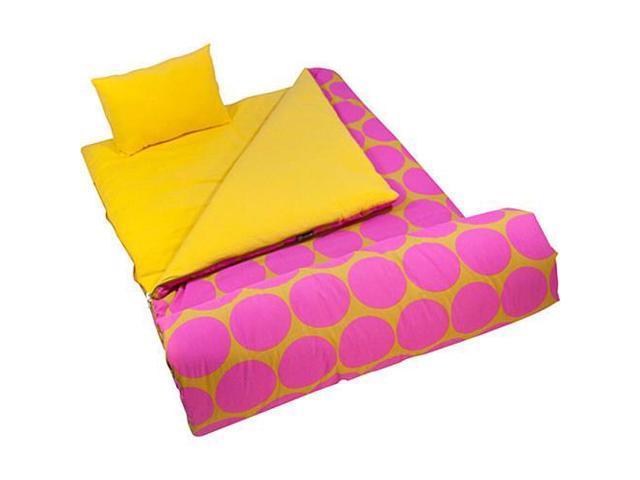 Wildkin Sleeping Bag - Hot Pink Big Dots