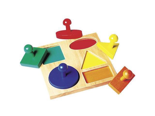 Guidecraft Geometric Puzzle Board, Multi - G527
