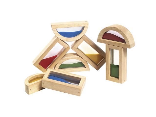 Guidecraft Rainbow Blocks Sand, Multi - G3014