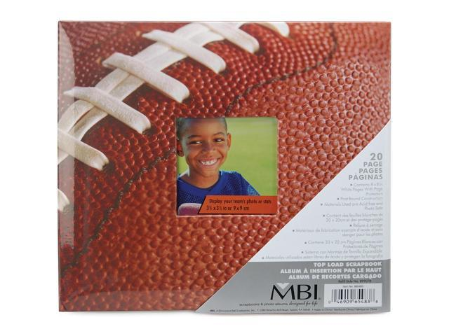 Sport and Hobby Postbound Album 8 inch X 8 inch - Football
