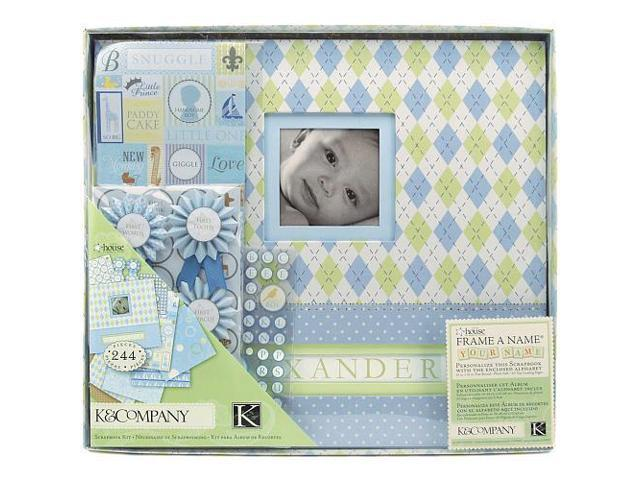 Scrapbook Kit Boxed 12x12 inch - Little House Baby Boy