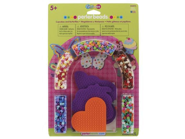 Perler Fun Fusion Fuse Bead Activity Kit-Cupcakes & Butterflies