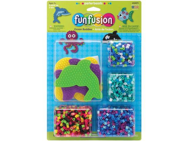Perler Fun Fusion Fuse Bead Activity Kit-Ocean Buddies
