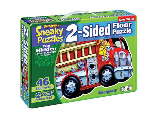 2-Sided Sneaky Floor Puzzle 46 Pieces - Emergency