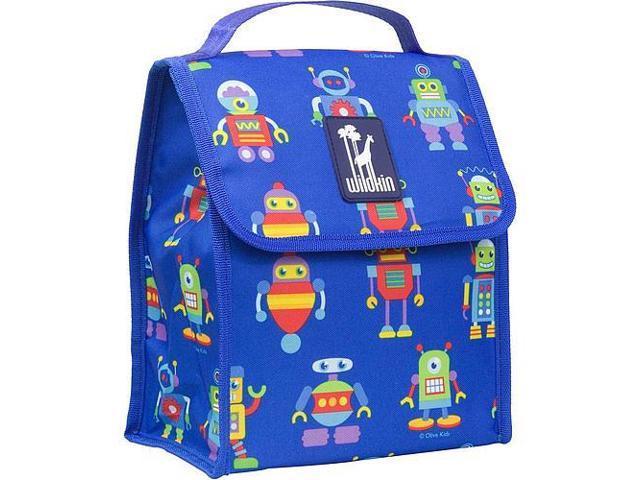 Wildkin Munch 'n Lunch Bag - Olive Kids Robots