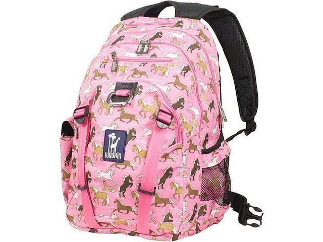 Wildkin Serious Backpack - Horses in Pink