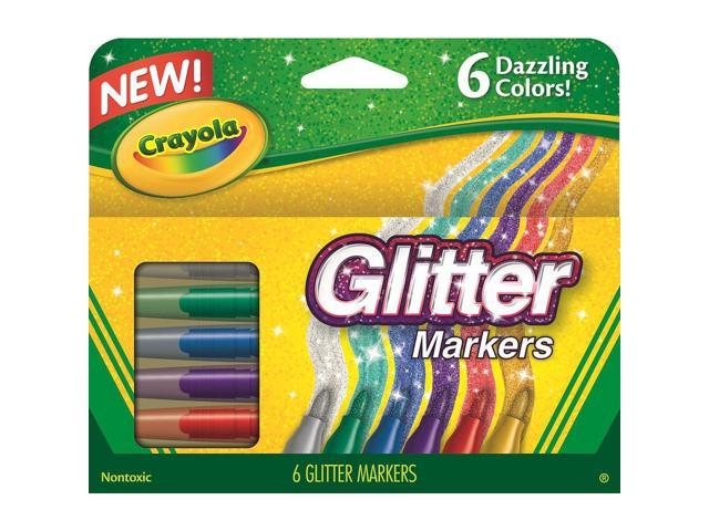 Glitter Markers Assorted 6/Set
