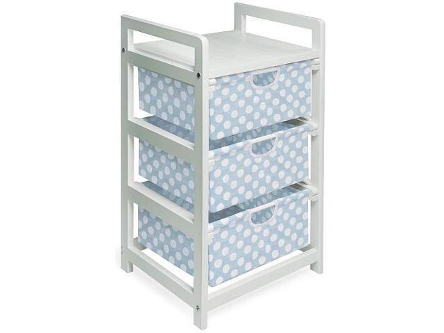 Badger Basket White Finish Three Drawer Hamper/Storage Unit - 127