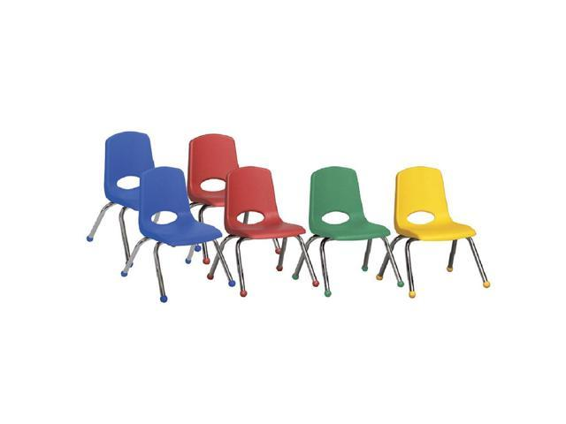 10in Stack Chair-Chr-6pc-AS