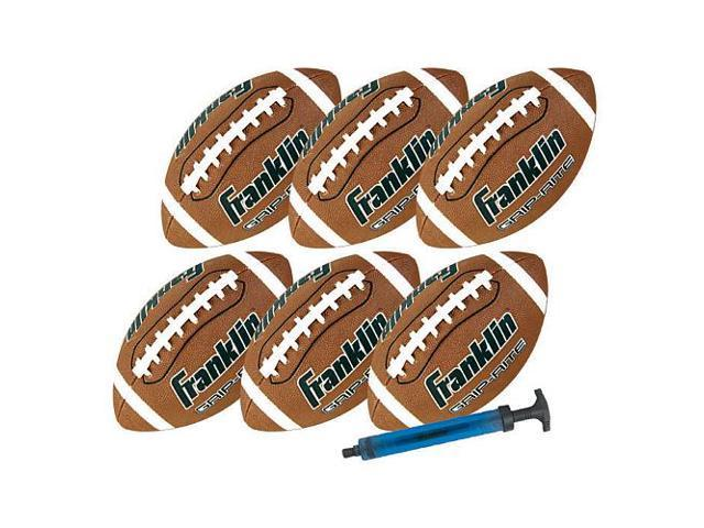 Franklin Sports Official Grip Rite Football with Pump - 6 -Pack