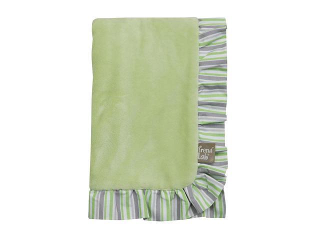 Trend Lab Lauren Ruffle Trimmed Receiving Blanket