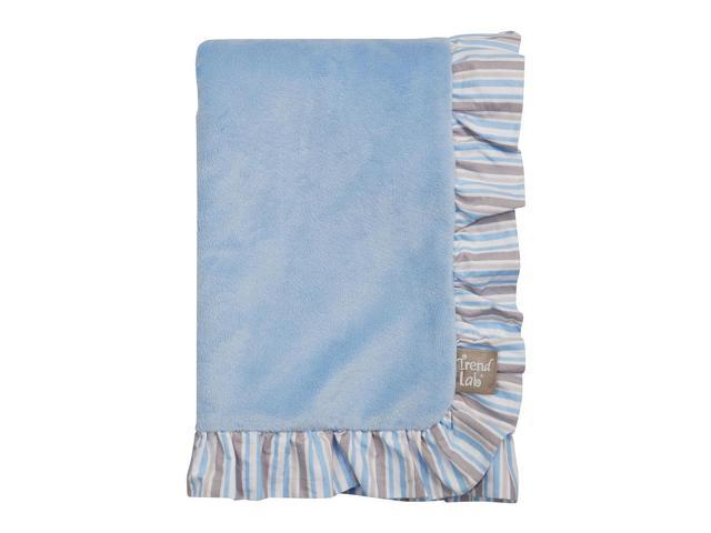 Trend Lab Logan Ruffle Trimmed Receiving Blanket